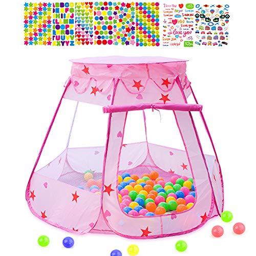 Mgee Tienda de Cama Infantil, Tiendas de Ensueño, Pop up Tienda, Carpa Juego Plegable Mágica para Niños, Regalos De Cumpleaños (E-Pink)