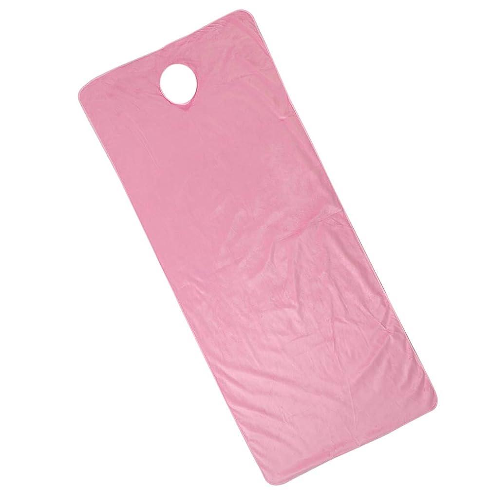 居間病んでいるレインコートF Fityle 美容ベッドカバー 有孔 スパ マッサージベッドカバー ピンク