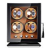 DFJU Watch Winder Haushaltsuhr Winder Boxen Leise Motor Mechanische Uhren Automatische 8 + 0 Drehstuhl Shaker Uhr Winder Uhr