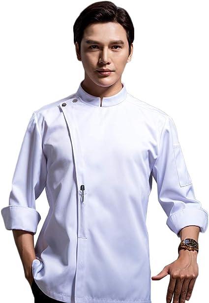 WYCDA Chaqueta Chef Camisa de Manga Larga Uniforme Algodón ...