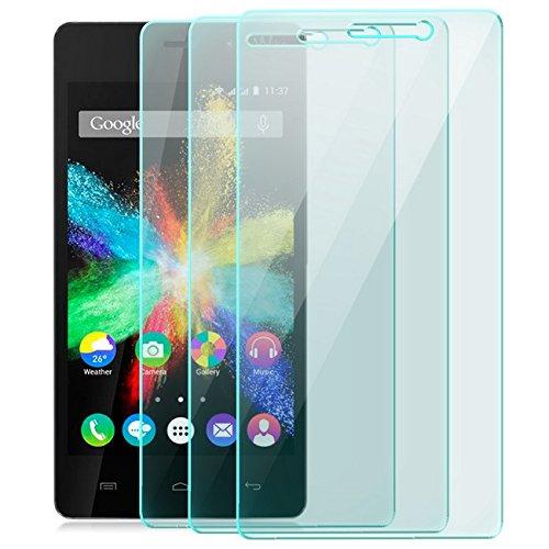 zanasta 3X Bildschirmschutz Folie kompatibel mit Huawei Wiko Highway Star Bildschirmschutzfolie aus gehärtetem Glas Schutzglas Glasfolie Schutzfolie   HD Klar Transparent