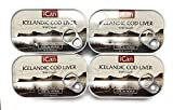 Wild Cod Liver Canned From Iceland 4.27oz pack of 4