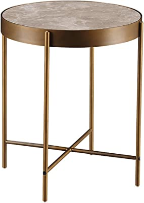 Coffee Tables Living Room Creative Small Side Bedroom Mini Coffee Table Sofa Side Cabinet Small Size Corner Cabinet Telephone Table (Color : Gold, Size : 49.5 * 49.5 * 60.5cm)
