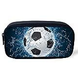 UOIMAG - Estuche para lápices de pelota de fútbol de agua, para niños, adultos, bolsa de lápices...
