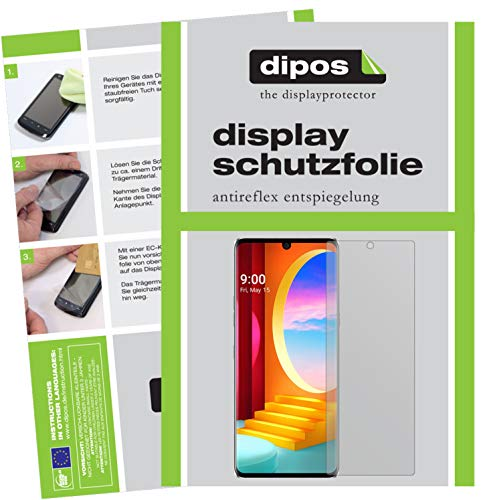 dipos I Schutzfolie matt kompatibel mit LG Velvet 4G Bildschirmschutz-Folie (Kleiner als das Glas, da Dieses gewölbt ist)