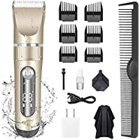 KERUITA Electric Quiet LED Display Cordless Rechargeable Hair Trimmers Set