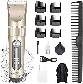 KERUITA Electric LED Display Cordless Rechargeable Hair Trimmers Set