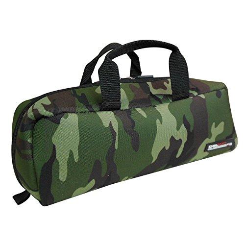 (業務用3セット)DBLTACT トレジャーボックス(作業バッグ/手提げ鞄) Sサイズ 自立型/軽量 DTQ-S-CA 迷彩 〔...