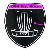 DGA Disc Golf Shield Logo Sticker - Pink