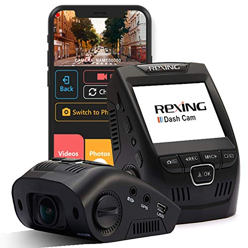 Rexing V1 Wi-Fi Car Dash Cam 2.4' LCD FHD 1080p 170° Wide Angle Dashboard Camera Recorder with...