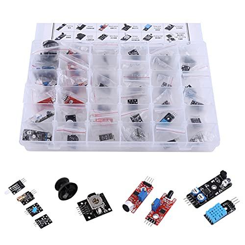 Ultimate 37 en 1 Kit de módulos de Sensor para Arduino, con Caja, Kit de Inicio de componentes electrónicos para usuarios de MCU Education, Principiantes