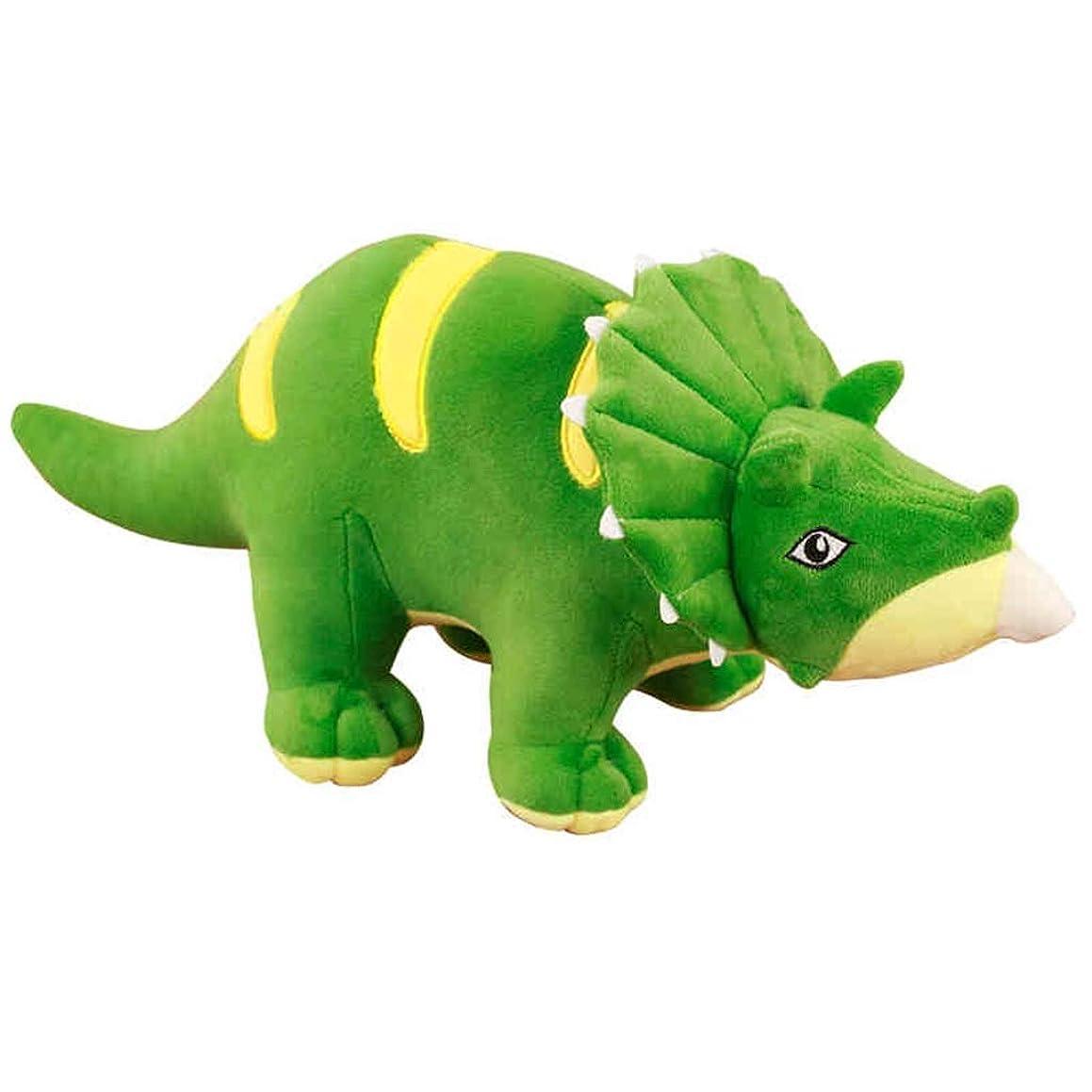 Plush Toys Plush Pillows Dinosaur Soft Toy Tyrannosaurus Doll Cute Dinosaur Children's Room Dinosaur Pillow Children's Bedroom Cartoon Toy Boy and Girl Birthday Present (Color : Green, Size : 95cm)