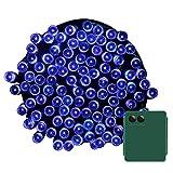 Yasolote 10M Guirnalda de Luces de Pilas 8 Modos 100 LED Cadena de Luces Exterior e Interior Impermeables para Decorar Patio, Jardín, Terraza, Boda, Fiesta, Navidad (Colores) (Azul)