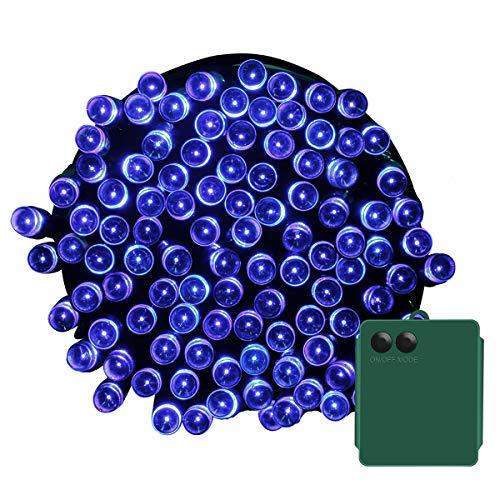 Yasolote 10M Ghirlanda di Luci a Batteria 8 Modalità 100 LED Stringa di Luci Esterna e Interioor Impermeabile per, Giardino, Terrazza, Festa, Natale (blu)
