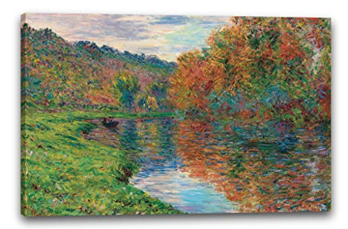 Printed Paintings Impresión sobre Lienzo (120x80cm): Claude Monet - El Brazo de Jeufosse, otoño.