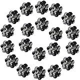 Ypser - Copricapezzoli da donna, con inserti disposabili 10 paia di fiori in pizzo nero. T...