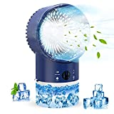 Portable Air Conditioner Fan - Personal Mini Air Conditioner with Timing, 3 Speeds Quiet, Air Humidifier Misting Fan for Home, Office, Room