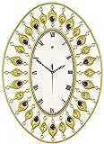 LXYZ Reloj de Pared silencioso de Hierro Estilo Europeo Moderno Forma de Pavo Real Flor Diamante Simplicidad Arte Creativo Decora tu hogar Sala de Estar Dormitorio Pasillo
