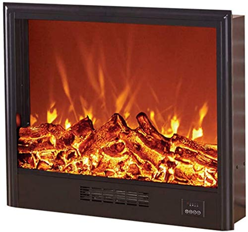 Estufa con calentador empotrado de pared para chimenea eléctrica empotrada con leños,enchufe...
