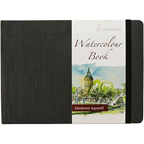 Hahnemuhle - Quaderno per acquerelli, formato A5, 30 fogli da 200 g/mq, orizzontale