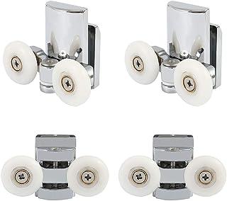 Juego de 4 rodillos para mampara de ducha con ruedas de aleación de zinc, diámetro