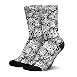 Boy Cotton Ahegao-Face-Anime-Sex-Rolling-Crossed-Eyes-Tongue-Black- Stocking Leisure Non Slip for Sports Adult Sock