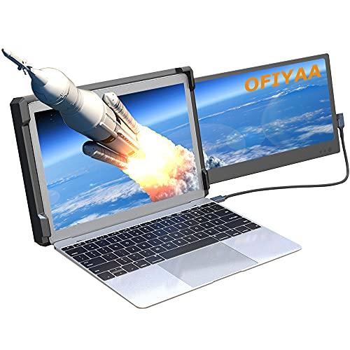 OFIYAA P1 12'' Monitor Portátil Pantalla De Ordenador 1080P FHD Giratorio IPS...