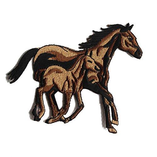 toruiwa parches cordones parche caballo forma parches termoadhesiva (costura Patch adhesivo para vestido Applique Badge sombrero Guantes Jeans DIY Disfraz adornan, 12.5 * 10cm, 12.5 * 10.0CM
