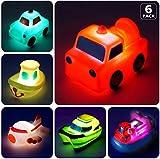 AOLUXLM Badespielzeug Baby ab 1 Jahr, Wasserspielzeug Kinder Bandewanne, Badewannenspielzeug Pool Spielzeug,Junge, Mädchen ( 6 Stück LED Lichtereffekt 7 Farben )