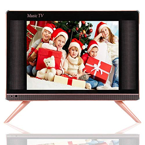 Mugast, 15-inch LCD TV, 1366x768 260 cd/m2 HDMI/USB/VGA/TV/AV FHD, thuistelevisie, met stereospeakers, voor traditionele televisie, set-top box, enz, EU.