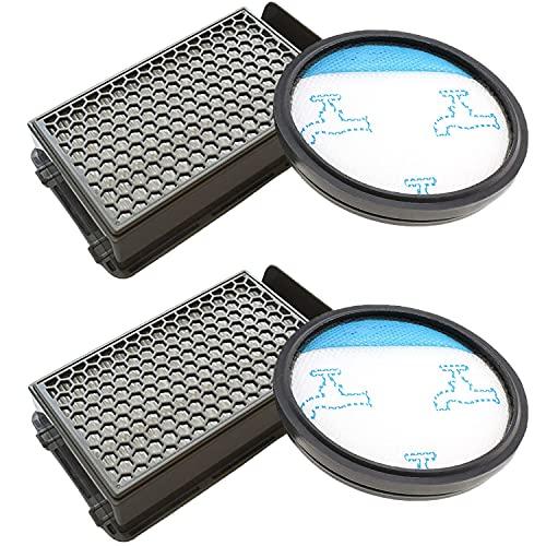2 Filtro de Espuma y 2 Filtro HEPA para Aspiradoras Rowenta Compact Power Cyclonic RO3753EA, O3718EA, RO3724EA, RO3731EA, RO3753EA, RO3786EA, RO3798EA Tefal/Moulinex, Reemplaza a ZR005901