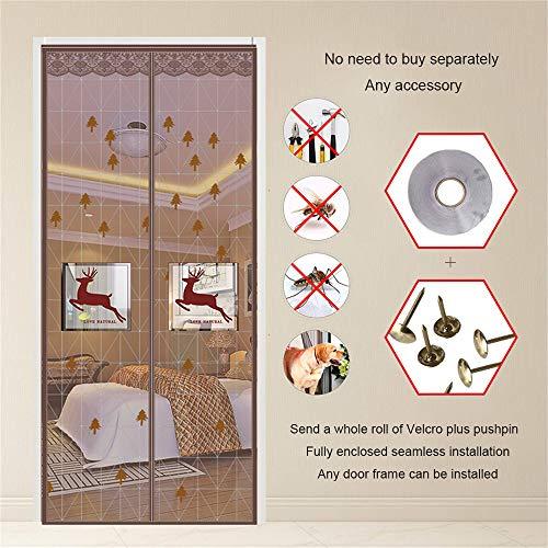 Zanzariera magnetica per porta, zanzariera, mani libere, si adatta automaticamente alla porta, tiene lontani insetti e zanzare, A, 95 x 200 cm