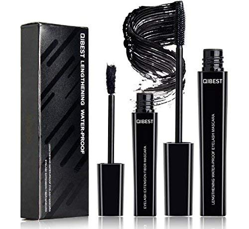 4D Mascara Kit Wimperntusche mit Fiber Set Makeup Wimpern Augenbrauenserum Wimpernverlängerung Wasserdicht schwarzer Länger Dicker Wimpern