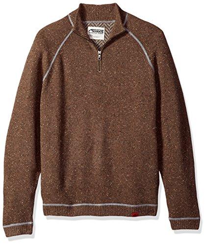 Mountain Khakis Men's Fleck Qtr Zip Sweater, Terra, Large