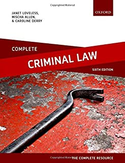 Complete Criminal Law: Text, Cases, and Materials