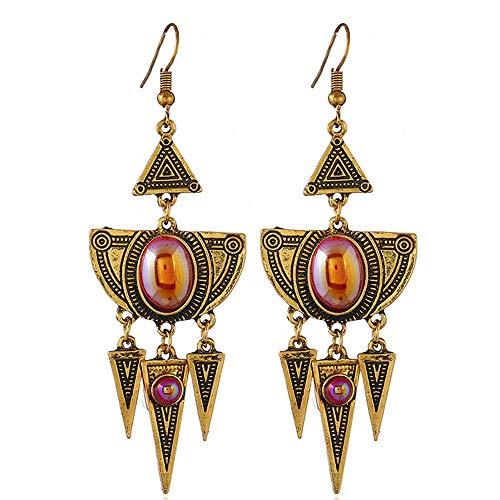 Vintage Geometric Boho Earrings Set for Woman Decorative Pattern Dangle Earring Jewelry