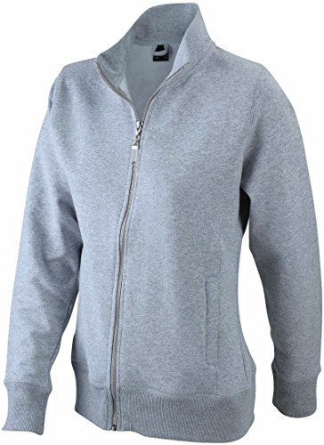 Damen Sweatjacke aus formbeständiger Sweat-Qualität, Farbe:grey-heather;Größe:L