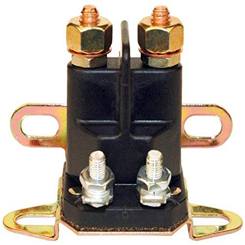 Maxpower 334019 Universal 4 Pole Solenoid Replaces, Briggs & Stratton 5410K Craftsman, Poulan, Husqvarna 109946 MTD, Cub Cadet, Troy Bilt 725-04437 & Many Others, Black