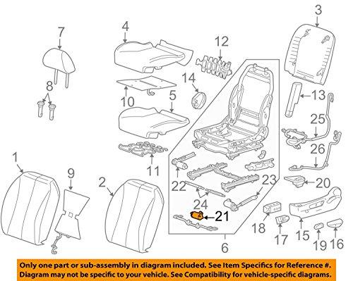 GENERAL MOTORS 22718107 ACTUATOR ASMD SEAT ADJRHORIZONTAL