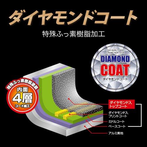 和平フレイズフライパンダイヤモンド・ライト26cm軽量タイプダイヤモンドコートガス火専用DR-7397