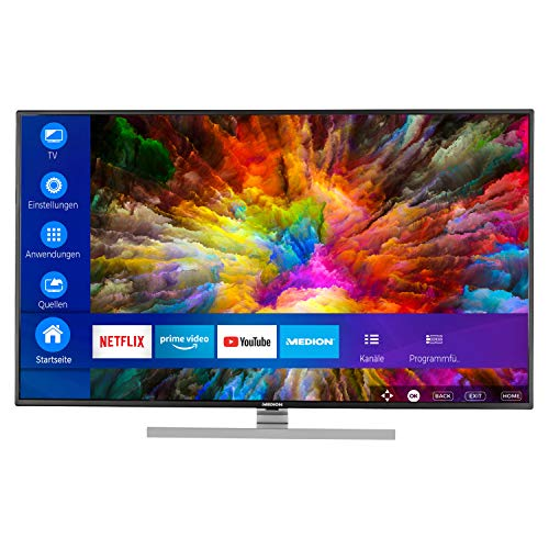 MEDION S14901 123,2 cm (49 Zoll) UHD Fernseher (Smart-TV, 4K Ultra HD, Dolby Vision HDR, Micro Dimming, MEMC, Netflix, Prime Video, WLAN, DTS Sound, PVR, Bluetooth)