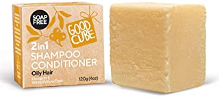 Moisturizing Shampoo Bars for Oily Hair | Long lasting 100+ washes | Essential Storage Supply Replaces 4 Bottles | Lemon M...