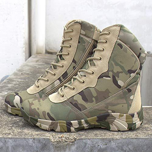 Ejército De Los Aficionados De Alta Superior Zapatos De Camuflaje Botas De Combate Zapatos Casuales De Campo Al Aire Libre (Color : Python Black)