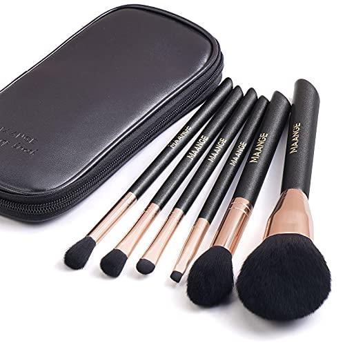 Makeup Brush Set, 6PCs Premium Synthetic Makeup Brushes with Bag Blending Face Powder Blush Concealers Eye Shadows Blush Professional Make Up Brushes (Rose Golden)