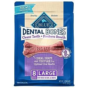 Blue Buffalo Dental Bones Natural Adult Dental Chew Dog Treats