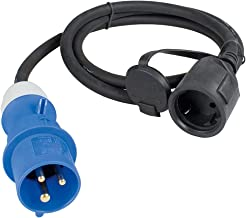 as - Schwabe CEE-adapterkabel Caravan, CEE-stekker en randaarde koppeling, IP44 camper accessoires met beschermkap, 3-poli...