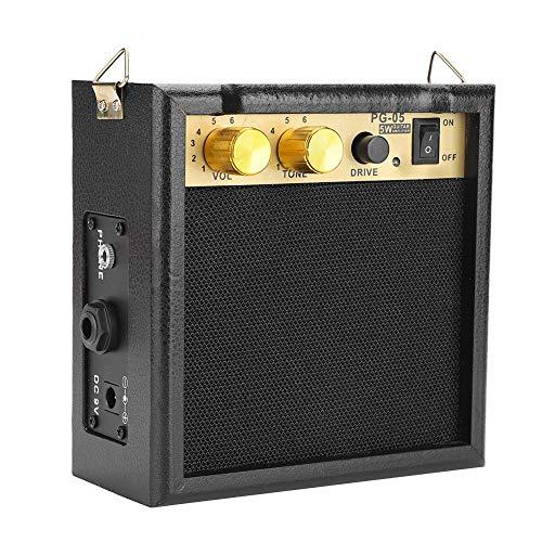 Dilwe E-Gitarren verstärker, PG-05 5W DC 9V Powered E-Gitarren Verstärker Lautsprecher mit Lautstärke