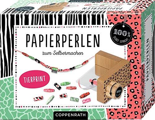 Papierperlen zum Selbermachen: Tierprint (100% selbst gemacht)