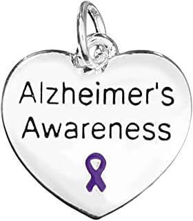 Alzheimers Stainless Steel Charm I Heart Someone with Alzheimers BFS440