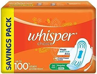 Whisper Choice Sanitary Pads for Women, 20 Napkins